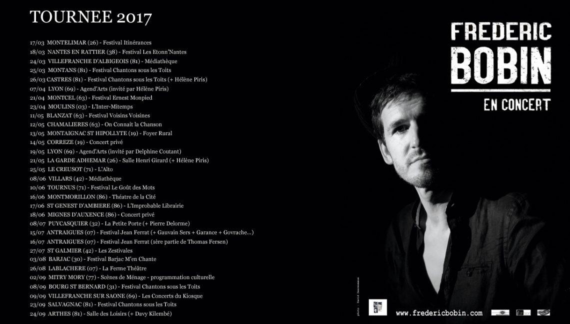 Tournée 2017 - Frédéric Bobin